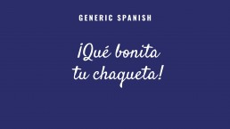 Generic Spanish text example 1 before