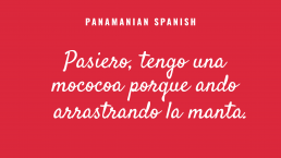 Panamanian Spanish text example 3 after